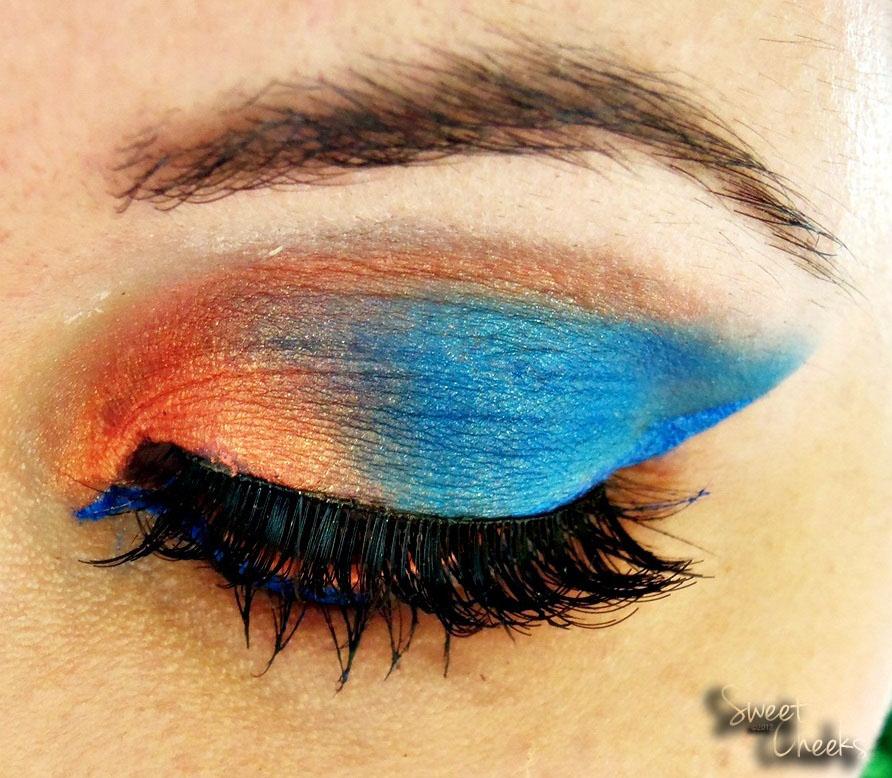 Sweet cheeks sultry thursday orange smokey eyes for Smokey eyes blau
