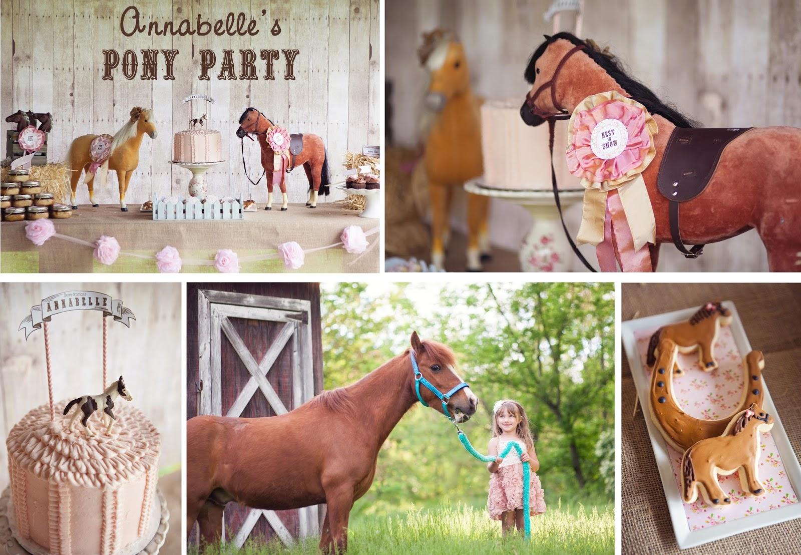 Horses Toys For Girls Birthdays : The homespun hostess pony party celebrating annabelle s