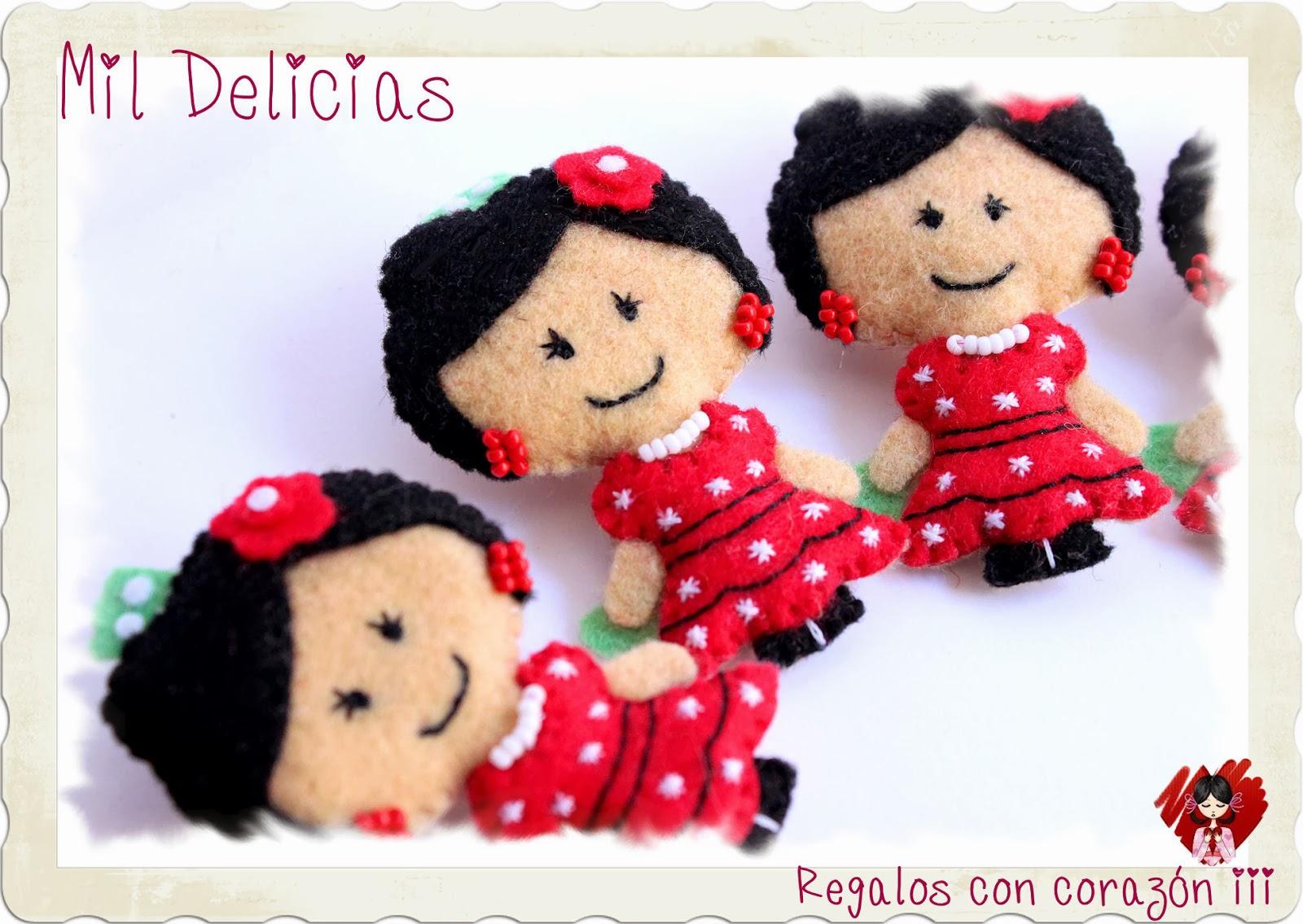 Broche flamencas