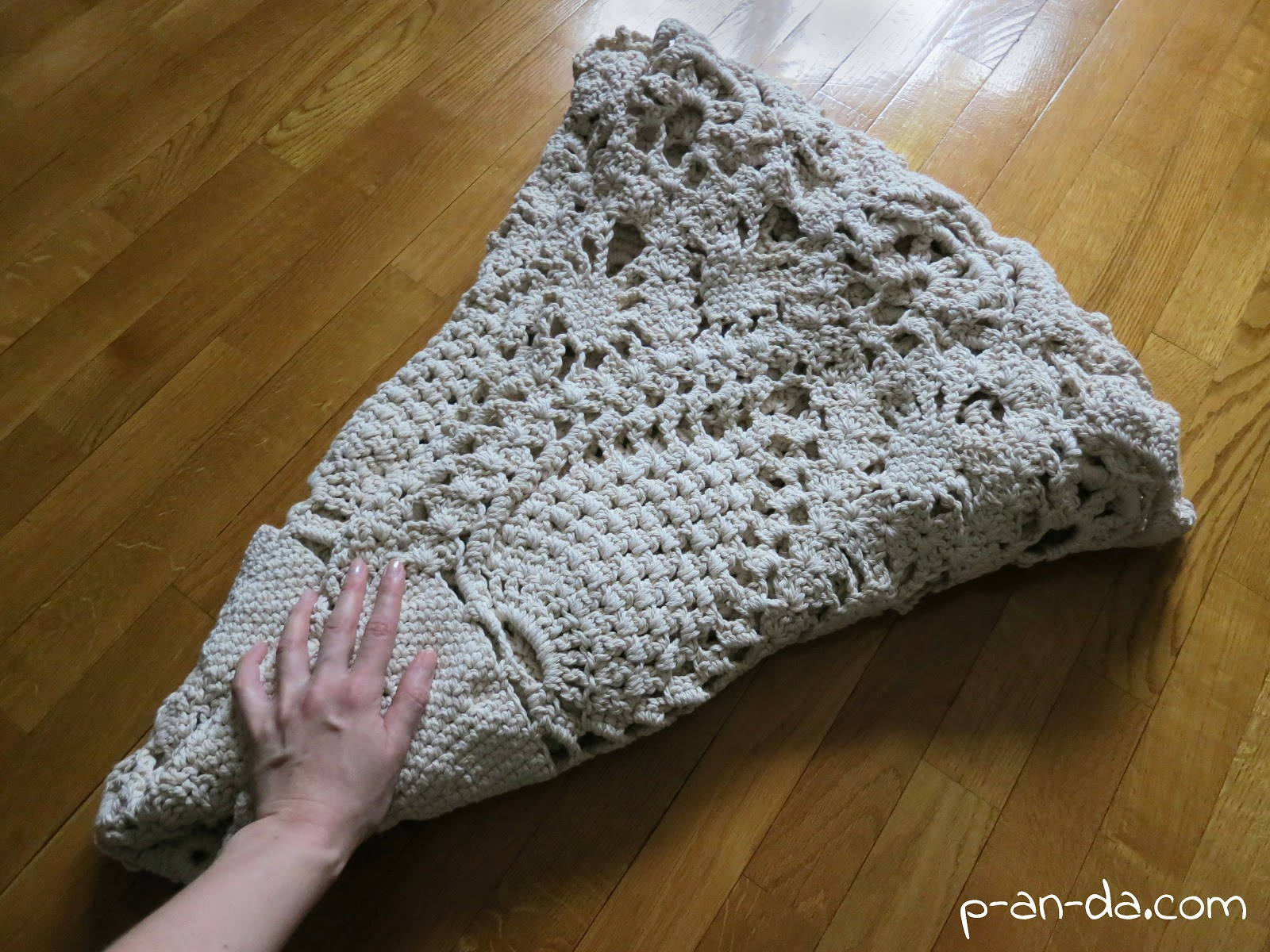 схема вязания ковров -мех