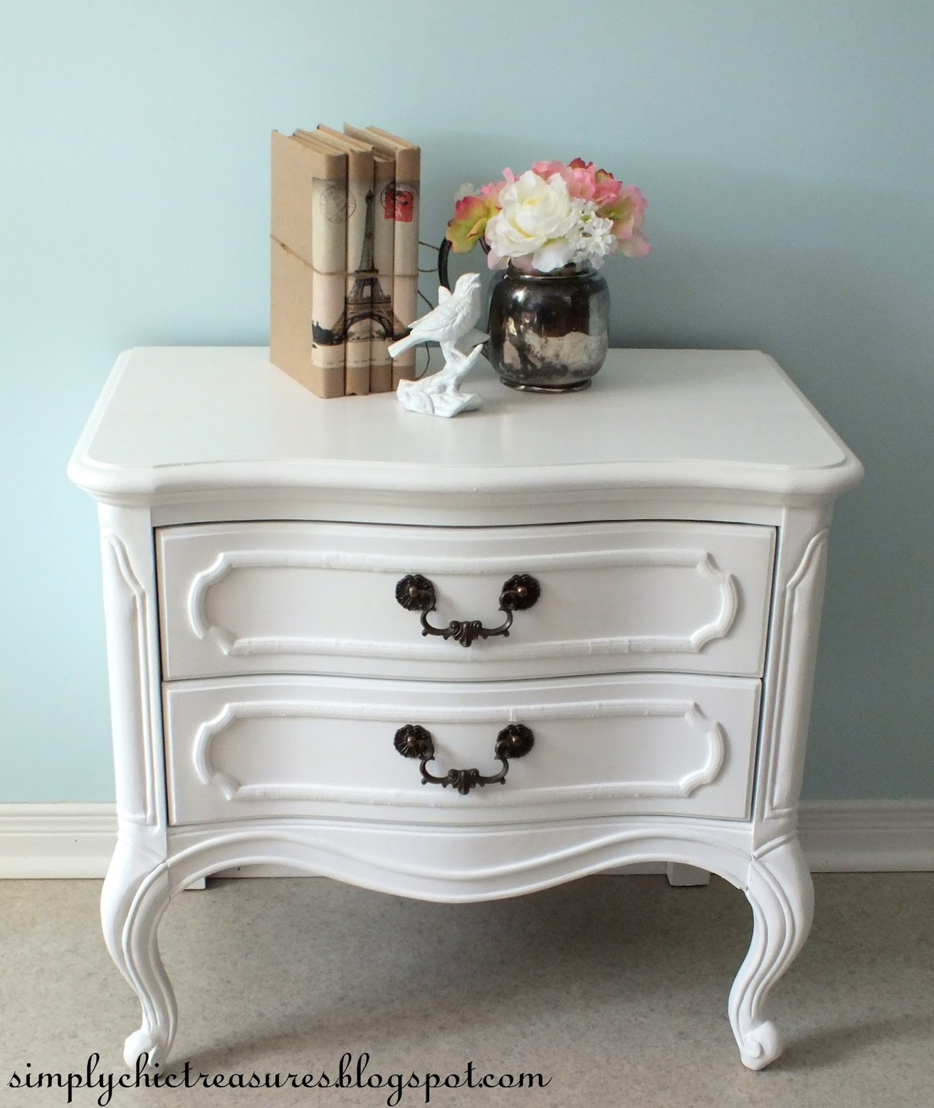 White French Provincial Nightstand