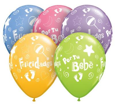 imagenes de felicidades por el bebe globos