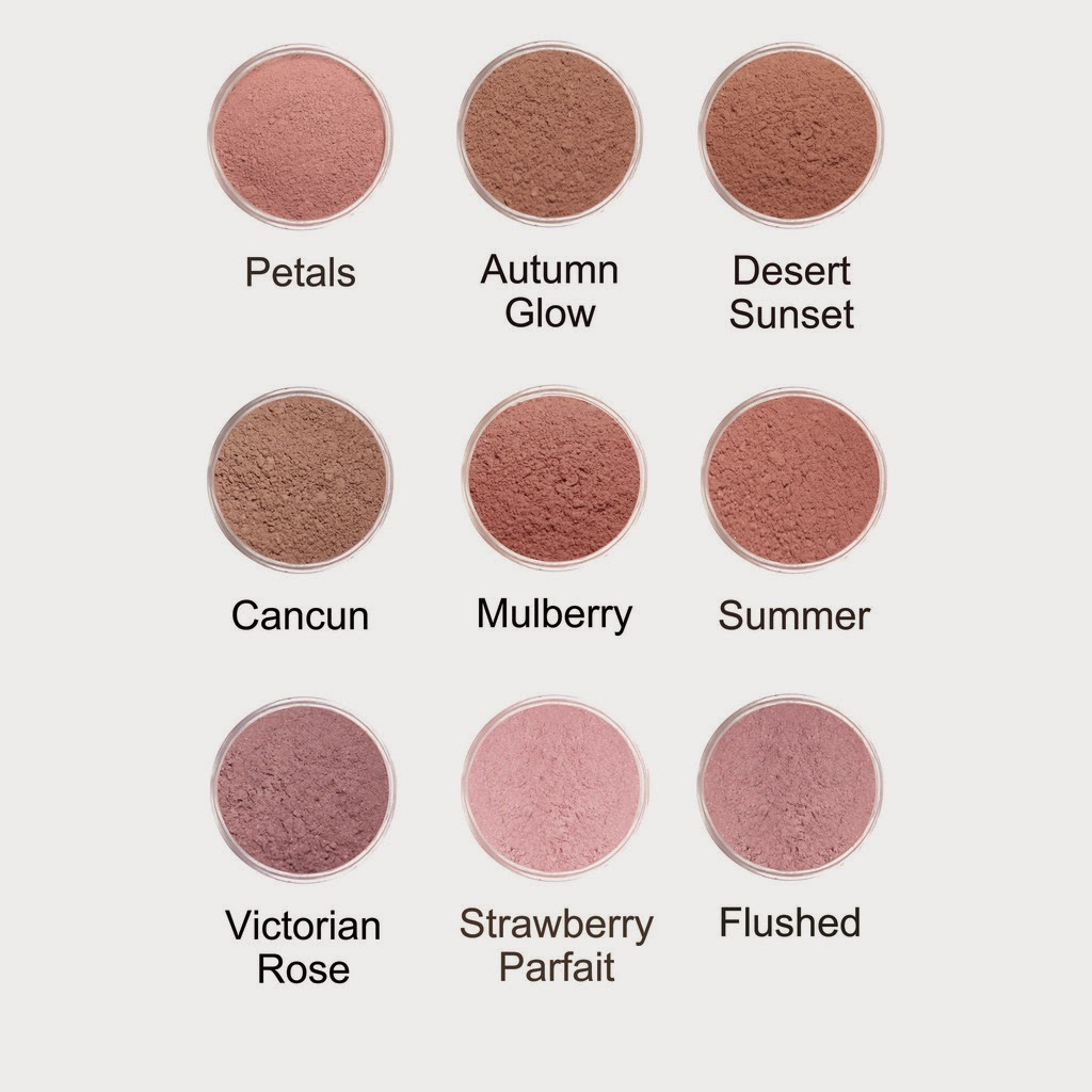 Lauren Brooke Cosmetiques Cheek Color Swatches