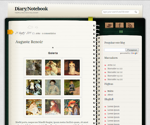 Template Diary Blogger Theme