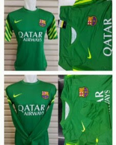 gamabr photo Jersey keeper Barcelona warna hijau terbaru musim 2015/2016