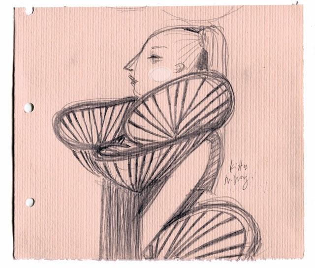 Kitty N. Wong / Ecochic Runway sketch