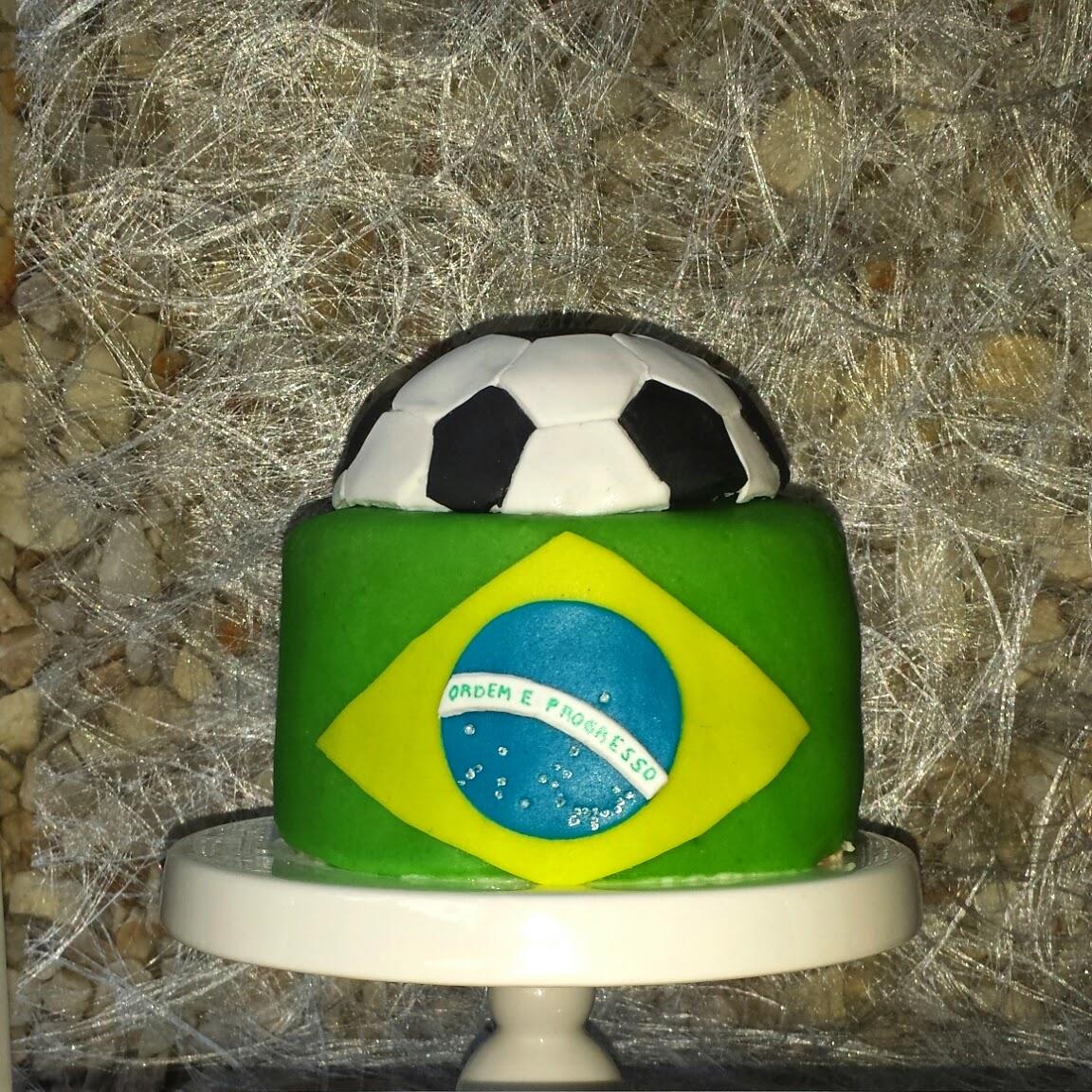 football cake brazil