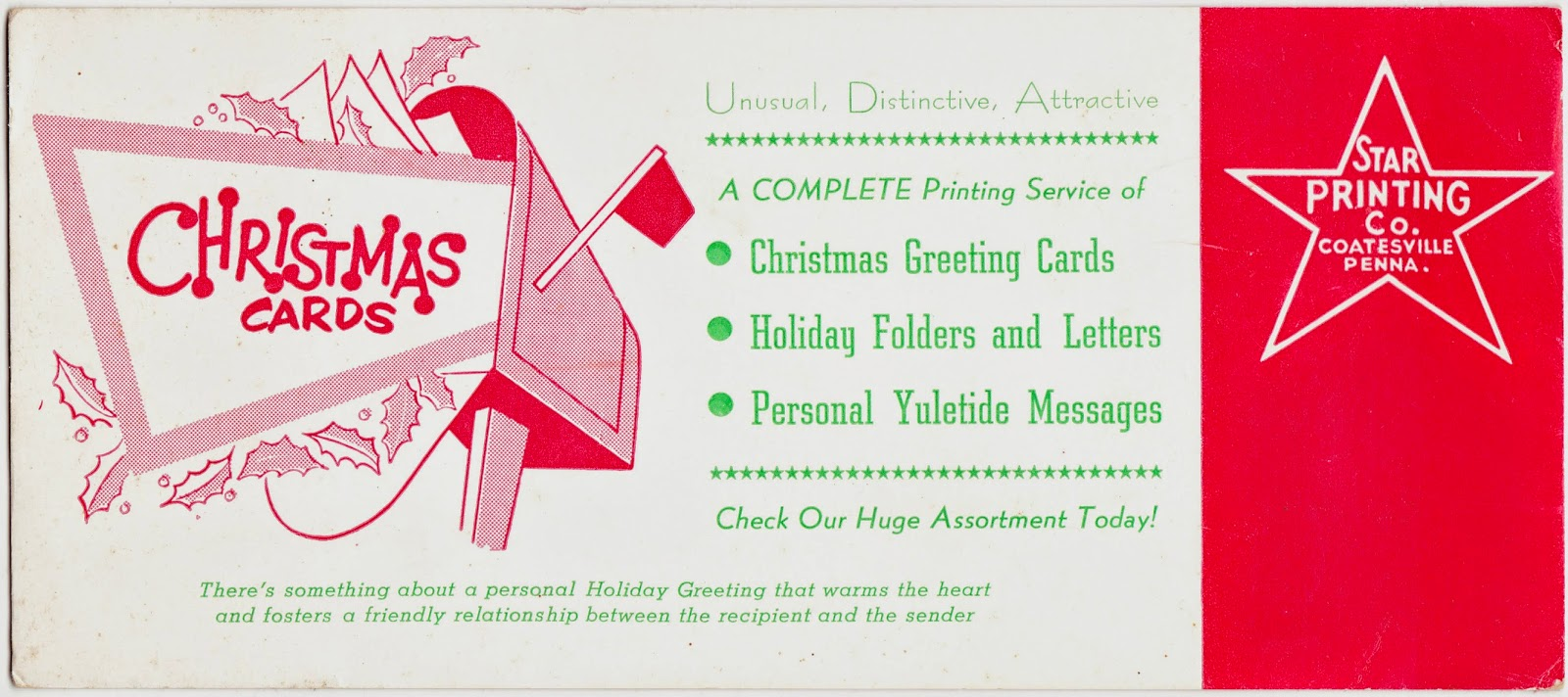 Papergreat: Ink blotter: Get your Christmas cards from Star Printing ...