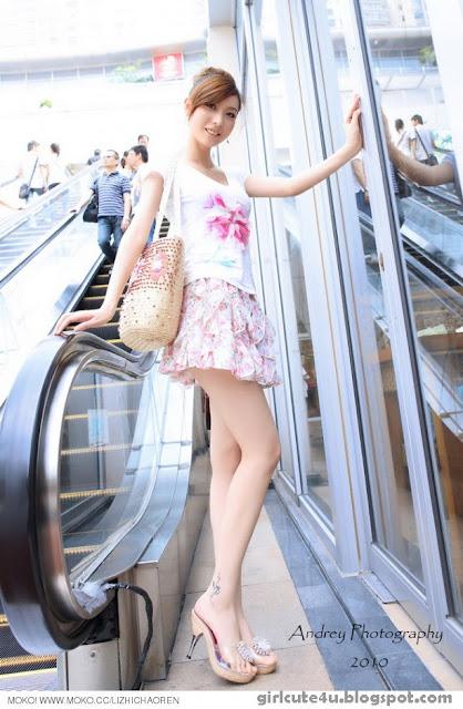 Li-Fan-Pink-and-White-02-very cute asian girl-girlcute4u.blogspot.com