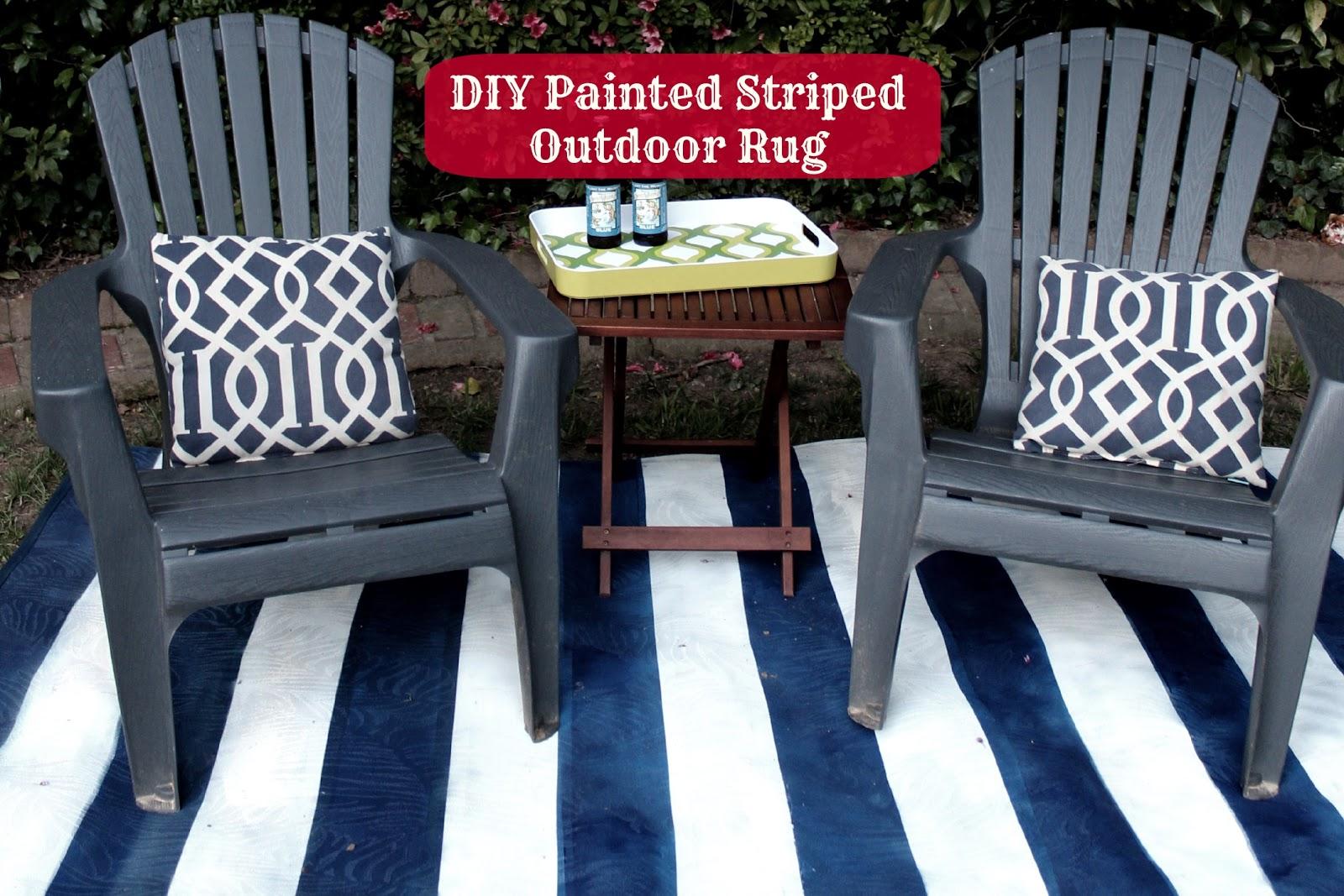 Tutorial Ballard Painted Striped Outdoor Rug Knock f