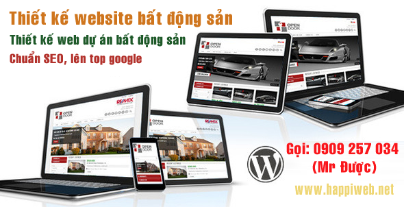 thiet ke website bang wordpress, thiet ke website bat dong san, thiet ke web du an bat dong san