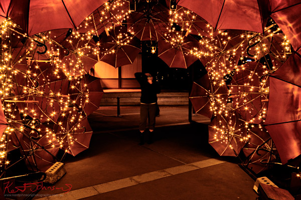 Underbrella by Anna Meister, Jorden Martin 2012, art installation, Walsh Bay, Vivid Sydney