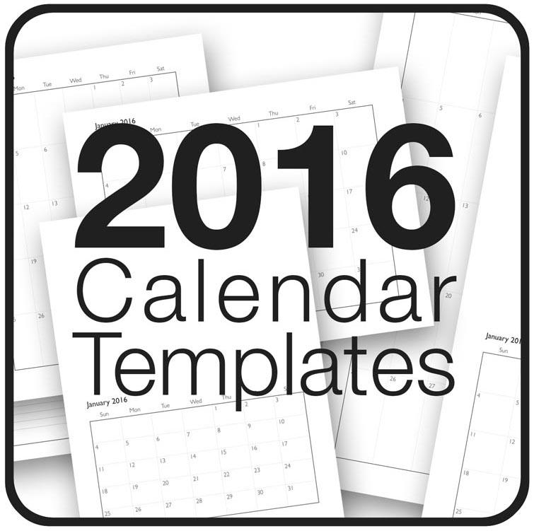 Chris Breier 2016 Calendar Templates Are Now Available