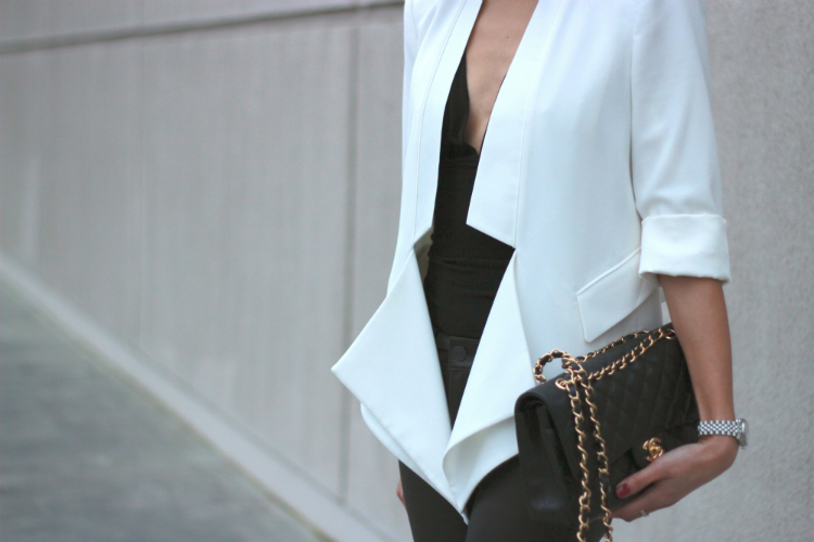 structured white blazer satin lapel