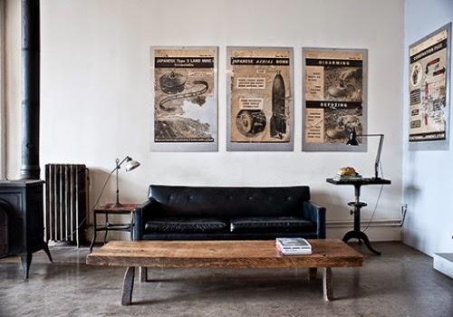 Flexos para decorar nuestra casa - Decoracion industrial vintage ...
