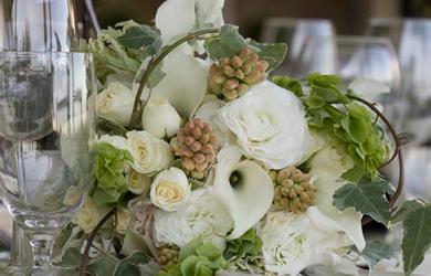 Id et photo d coration mariage centre de table naturel for Centre de table nature