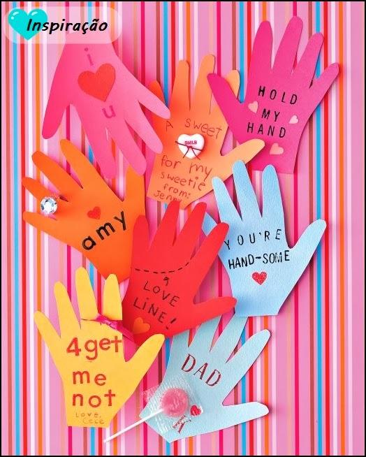 cartão mãozinhas
