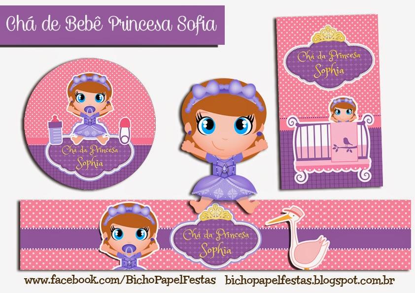 Kit chá de bebê Princesa Sofia