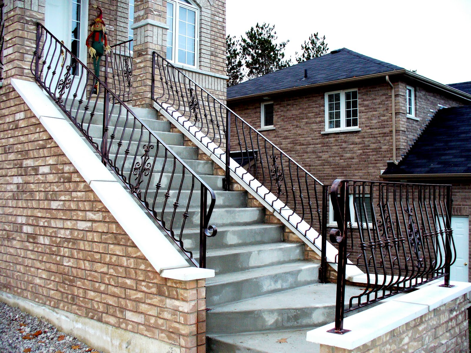 Wrought iron from julian wrought iron outdoor railings for Exterior railings