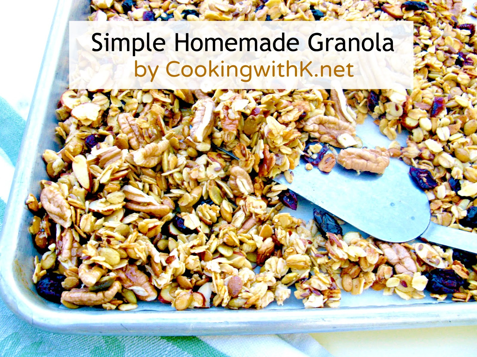 Cooking with K: Simple Homemade Granola