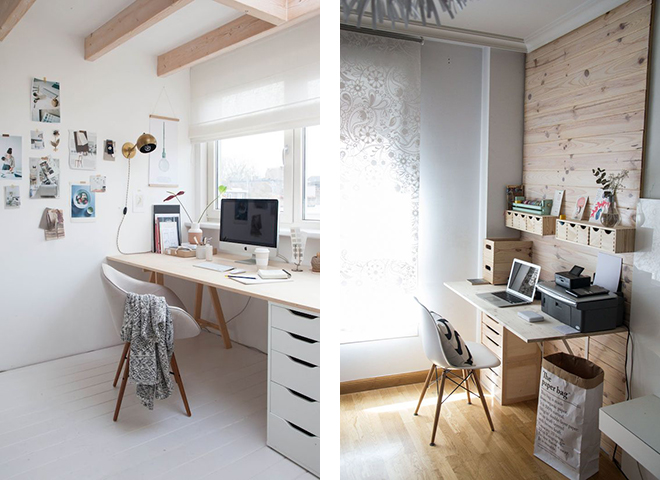 Ikea office inspiration, scandinavian interior design, lightwood and white, swedish desk and offeice, fashionblogger desk
