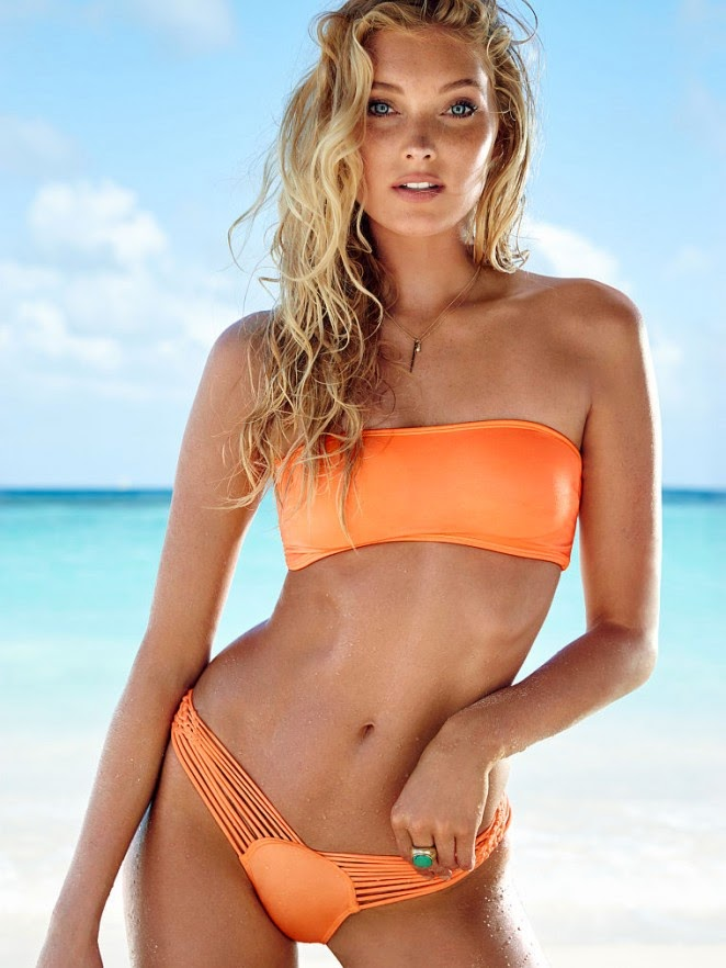 Elsa Hosk poses in bikinis for the Victoria's Secret Swim January 2015 Lookbook
