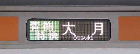 【どこに向かうの?】青梅特快 大月行き E233系
