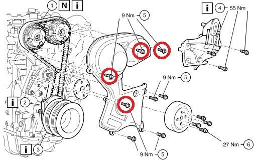 Замена ремней на форд фокус 2 1.6
