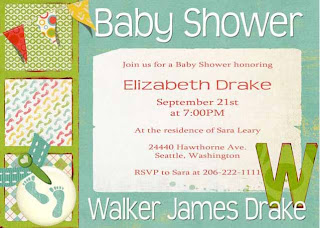 Baby Boys Baby Shower Invitations