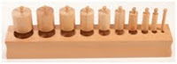 NAMC montessori sensorial materials the cylinder blocks block 1