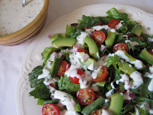 BLT and Avocado Salad with Homemade Buttermilk Dressing
