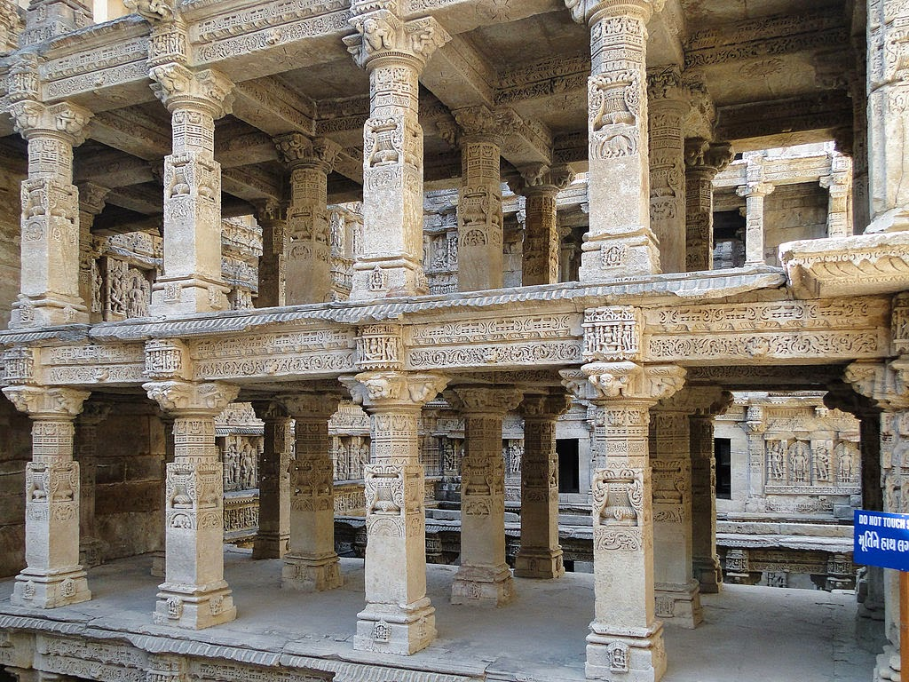 Pillars of Rani ki vav Gujrat, India