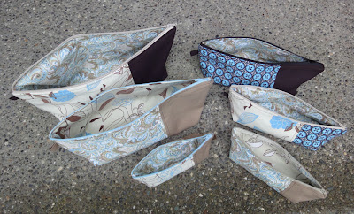 Origami bags open to see lining