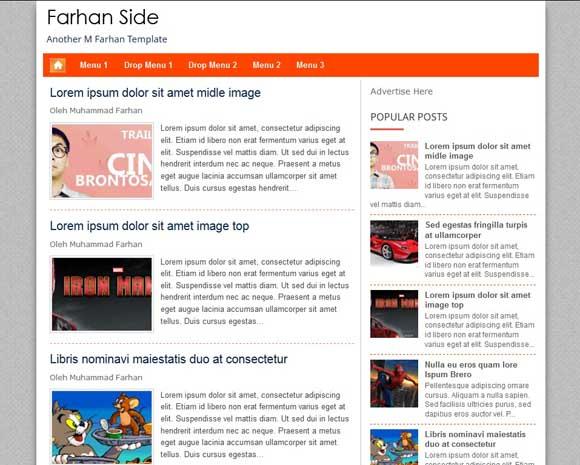 Farhan Side Blogger Template