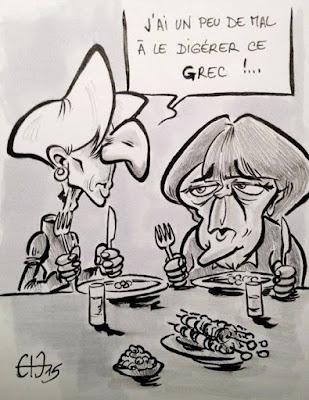 Comme une Olive en travers de la gorge. La Grèce et Tsipras gardent leur cap. Quid du FMI, de la BCE et de l'Allemagne ? Guillaume Néel©