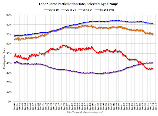 Participation Rate Selected Age Groups