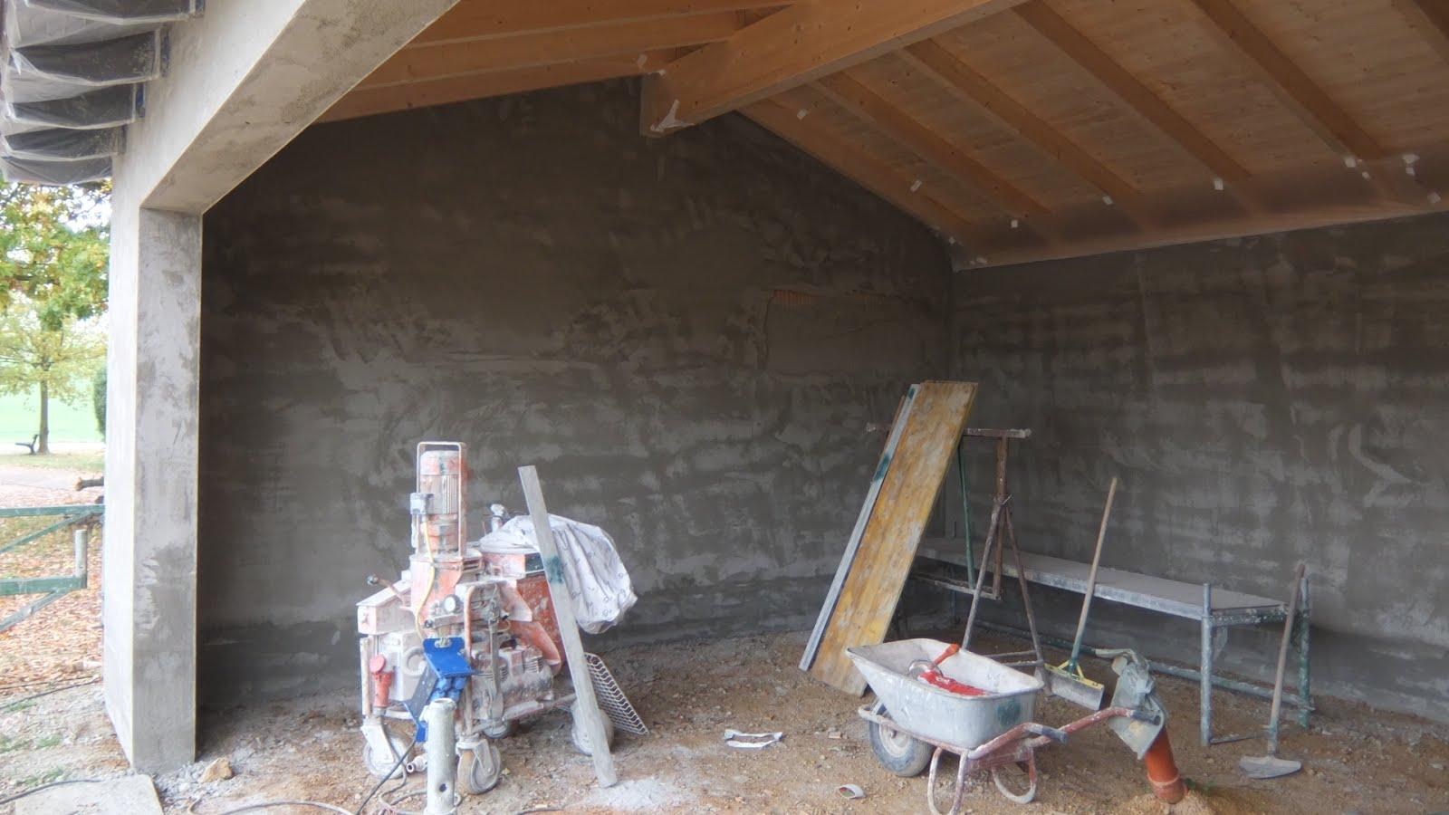 aua 39 s baublog garage wird verputzt. Black Bedroom Furniture Sets. Home Design Ideas