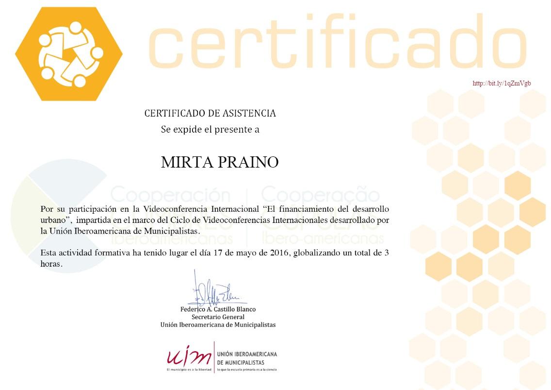 """Videoconferencia""""El Financiamiento del Desarrollo Urbano"""""""