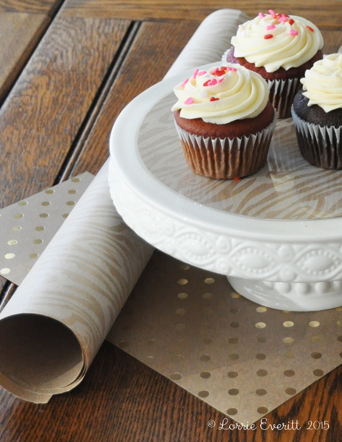diy decorative cake stand liners | Lorrie Everitt Studio
