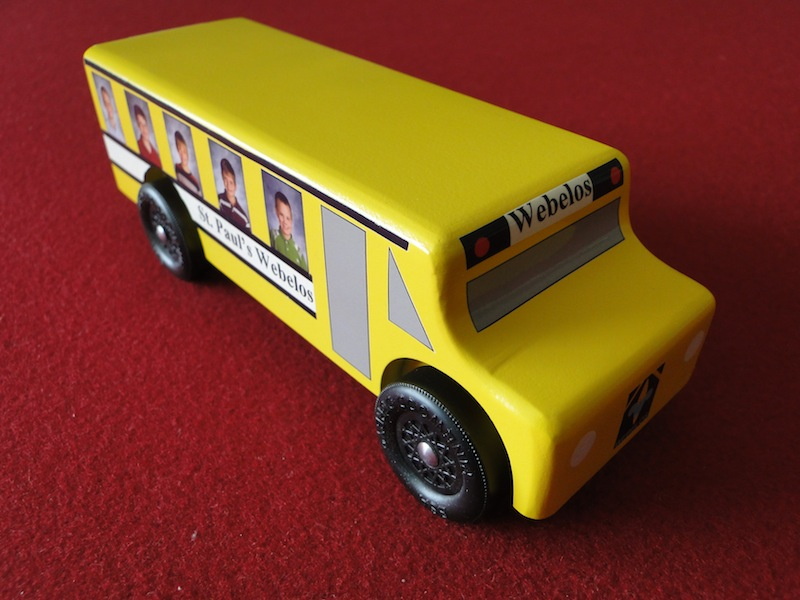 Scotts Workshop Notes Pinewood Derby Hershey Bar And Bus