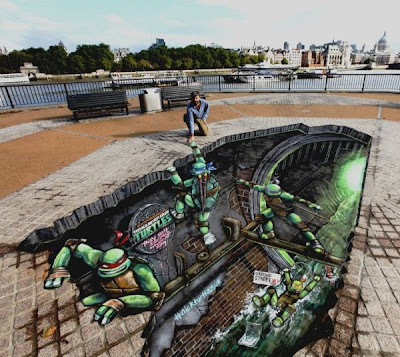 Anamorphic 3D Street Art Seen On www.coolpicturegallery.us