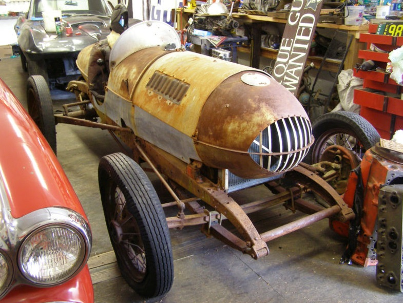 Ebay 1940 39 s belly tank dirt track race car for Dirt track garage