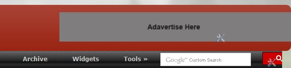 Add Adsense, Banner, Search Box beside header