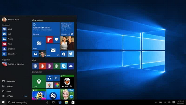 "Windows 10 ""Hero Desktop Image"""
