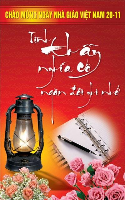 Tấm thiệp đẹp mừng ngày nhà giáo Việt Nam