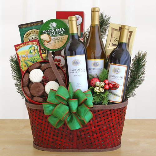 ORDER HOLIDAY WINE GIFT BASKETS!