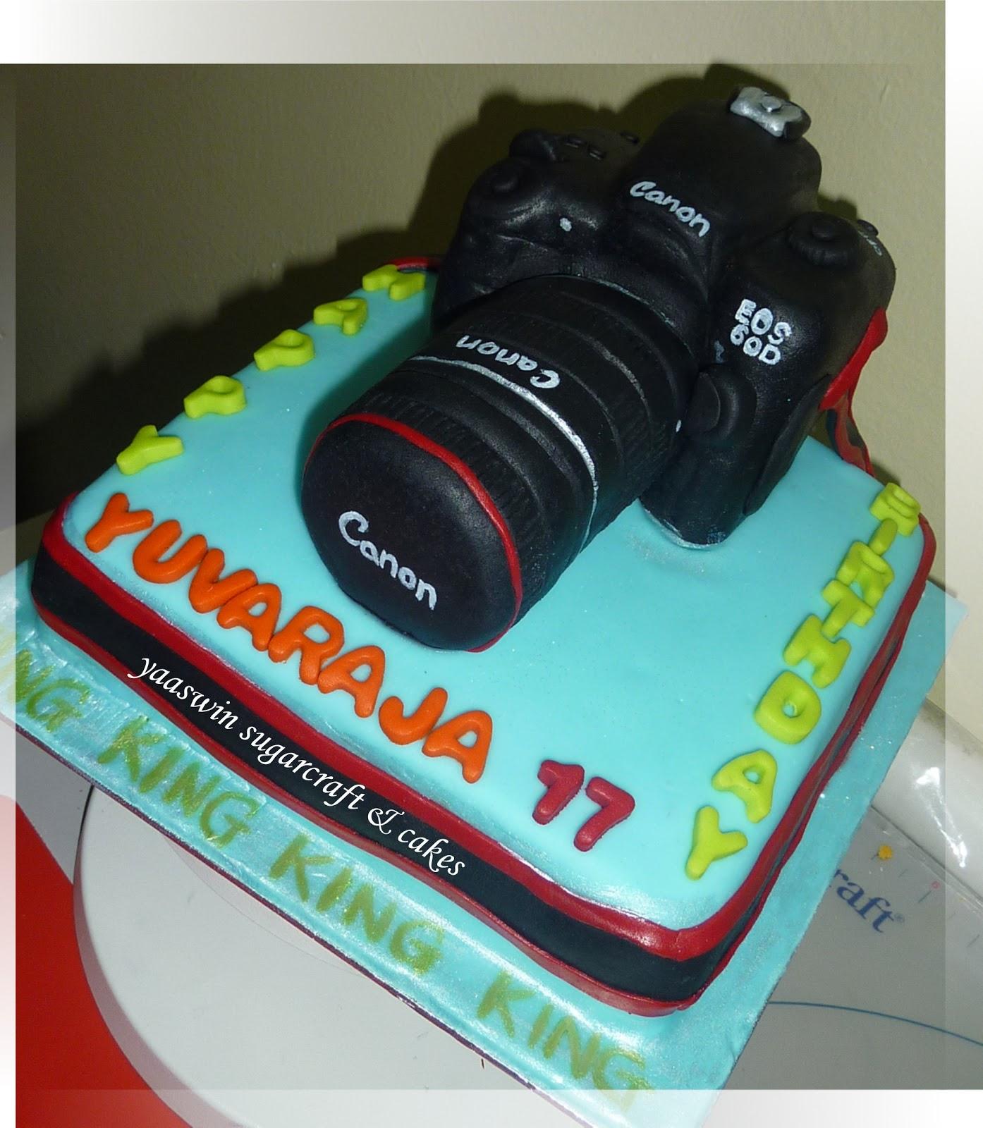 Canon Camera 60D Chocolate & Vanilla Cake