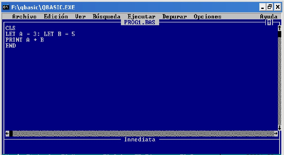 q basic Is there qbasic for windows 7 if there the tell the current level of qb64 is more like visual basic but being upward compatible from qbasic it still will run.