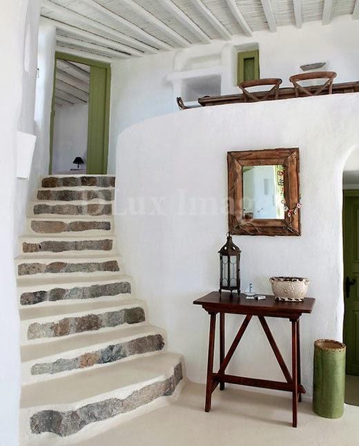 Vicky 39 s home estilo r stico bohemio en mykonos rustic for Estilo rustico moderno caracteristicas
