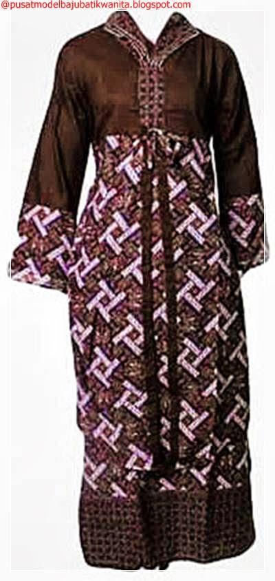 Model Gamis Batik Modern Terbaru 2014 Busana Muslim 2014